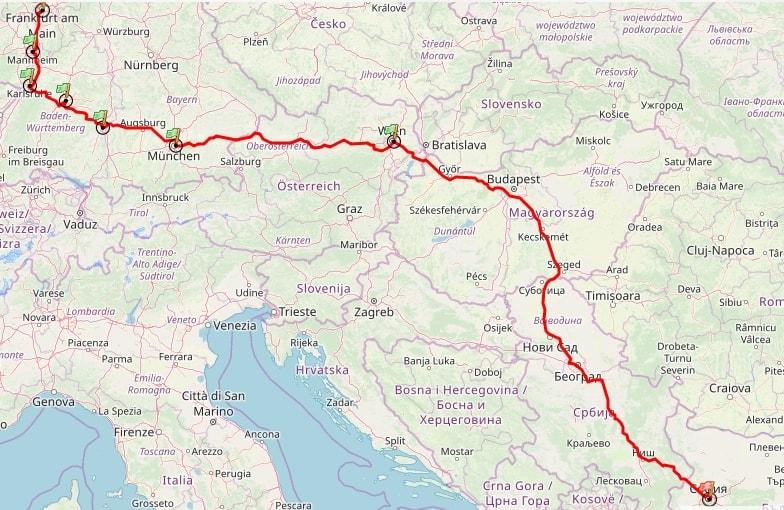 маршрут до Германия 1